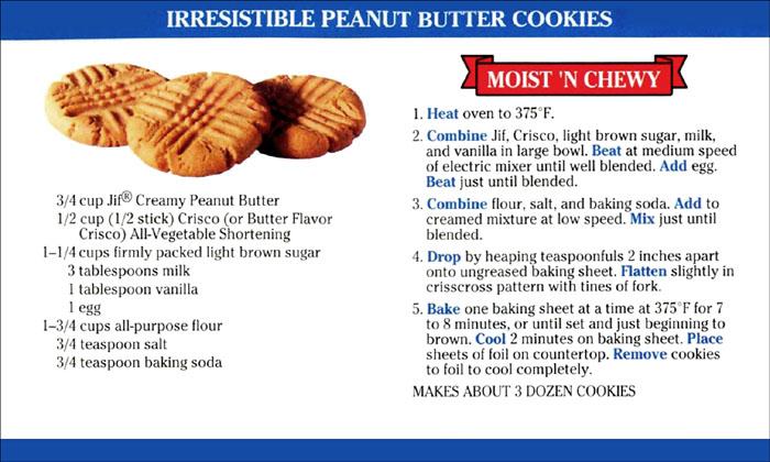Memere S Favorite Recipes Irresistible Peanut Butter Cookies