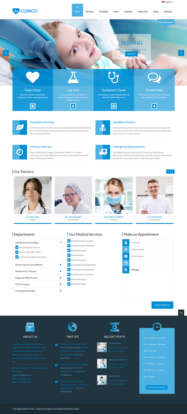 Premium Health WP Theme
