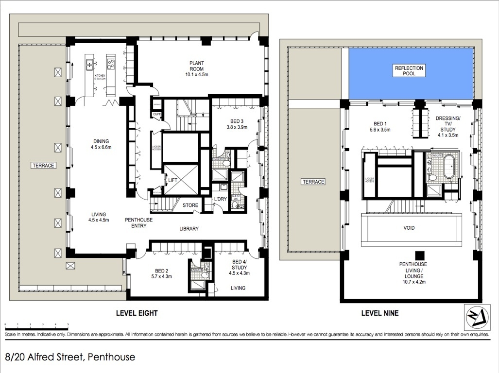 World of architecture sydney harbour bridge penthouse for for Home blueprints for sale