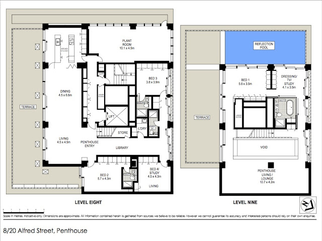 Picture of the upper and lower floor plans