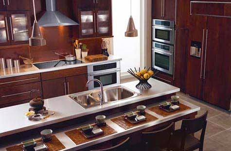 D co cuisine asiatique for Zen style kitchen designs