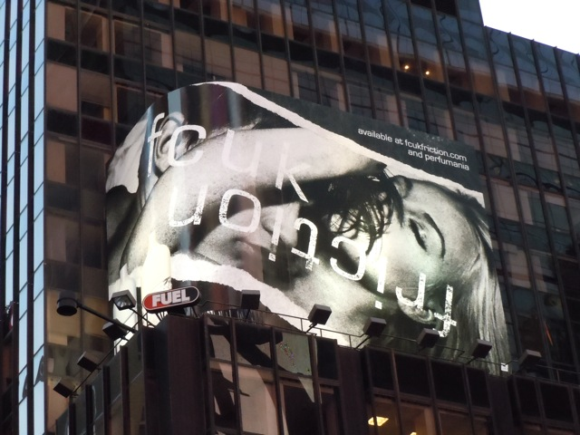 FCUK Friction fragrance billboard NYC