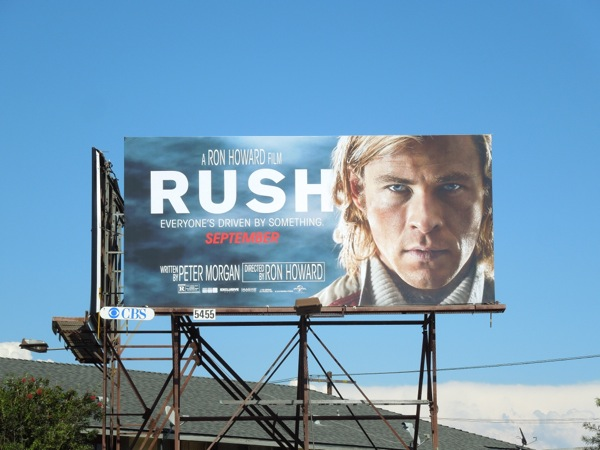 Rush movie billboard