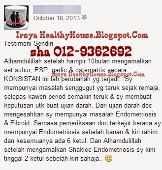endometriosis dan fibroid dan shaklee