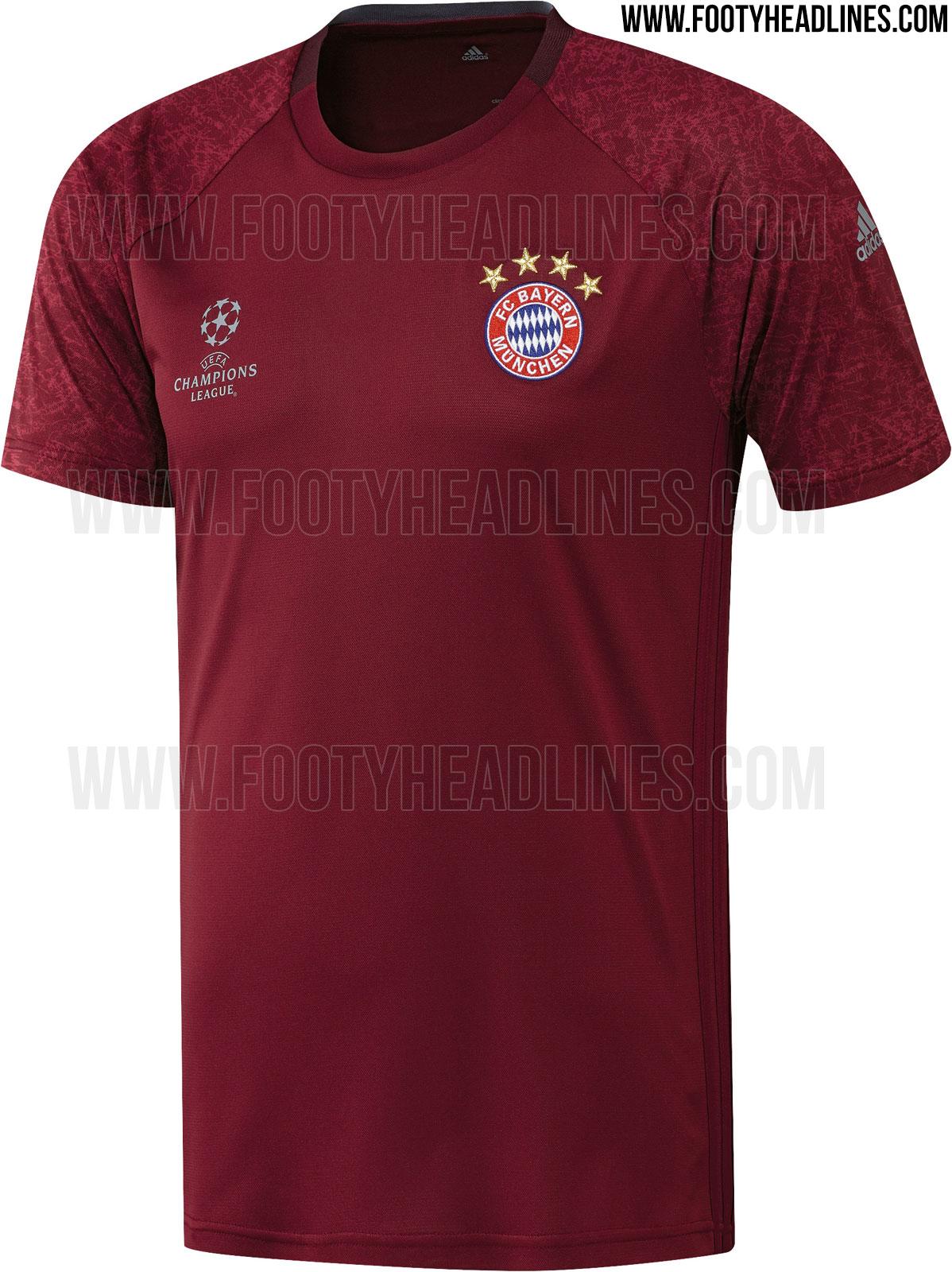 bayern munich 16 17 champions league training shirt leaked. Black Bedroom Furniture Sets. Home Design Ideas