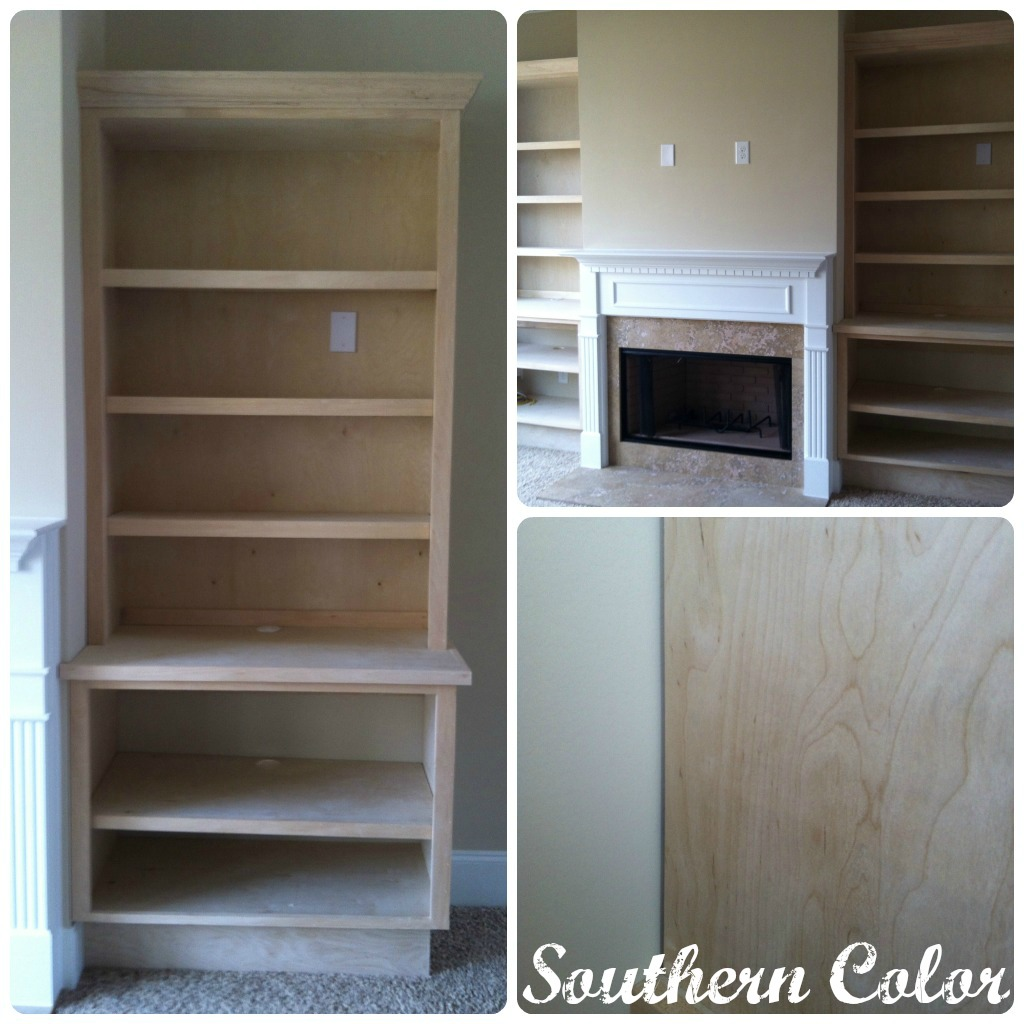 Marvelous photograph of Southern Color: Painted Bookcases with #51627A color and 1024x1024 pixels