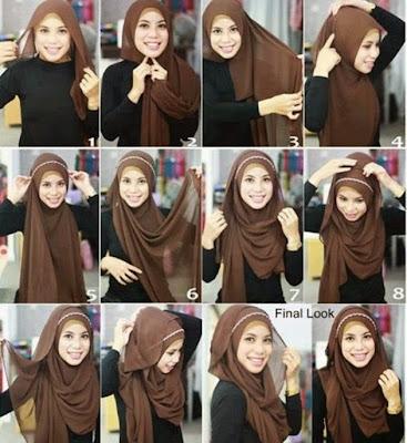Cara Memakai Jilbab Pasmhina Alyssa Soebandono Model Hijab Terbaru