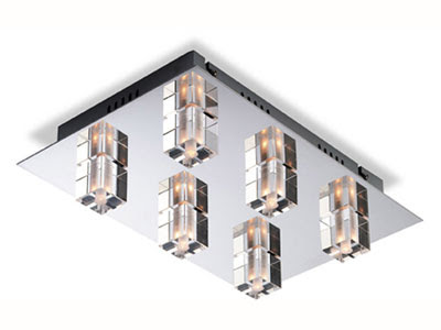 Elegant Flush Lights, the 5457CH Starburst Flush Ceiling Light with 6 lamps