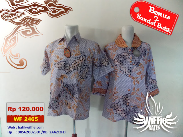 Batik Couple Elegan Orange