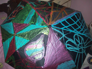 Painted umbrella
