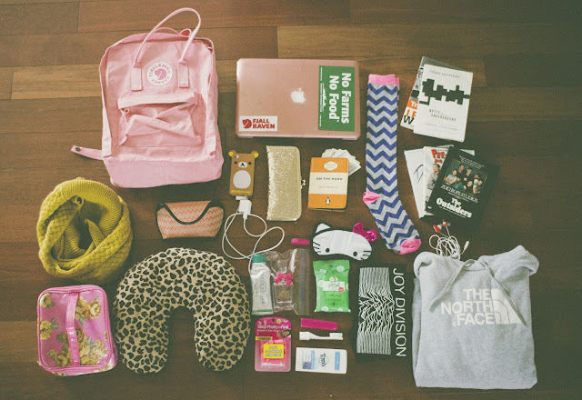 Fjallraven Kanken, Joy Division, The North Face, Rilakkuma, iPhone, chevron stripe, travel, film,