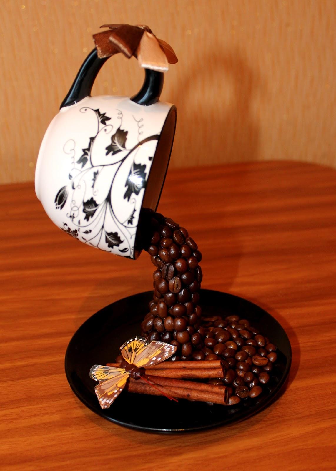 Стакан из кофейных зерен своими руками