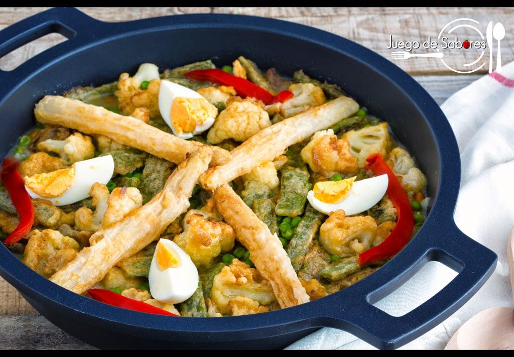 Juego de sabores menestra de verduras palentina - Menestra de verduras en texturas ...