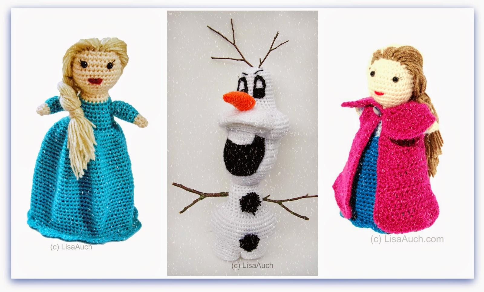 Knitting Pattern For Upside Down Doll : Free Crochet Doll Pattern Topsy Turvy Crochet Doll Pattern Ana Elsa Car Int...
