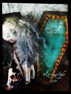 MiniGor miniature art doll coffin girl LuLusApple