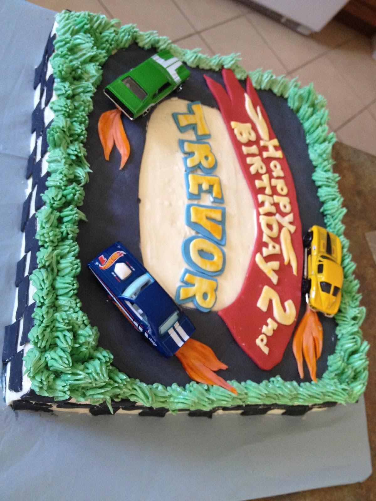 Second Generation Cake Design Hot Wheels Birthday Cake