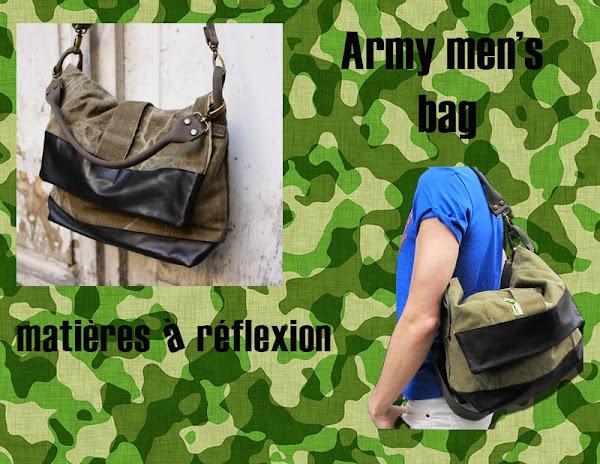 Besace messenger army Matières à réflexion