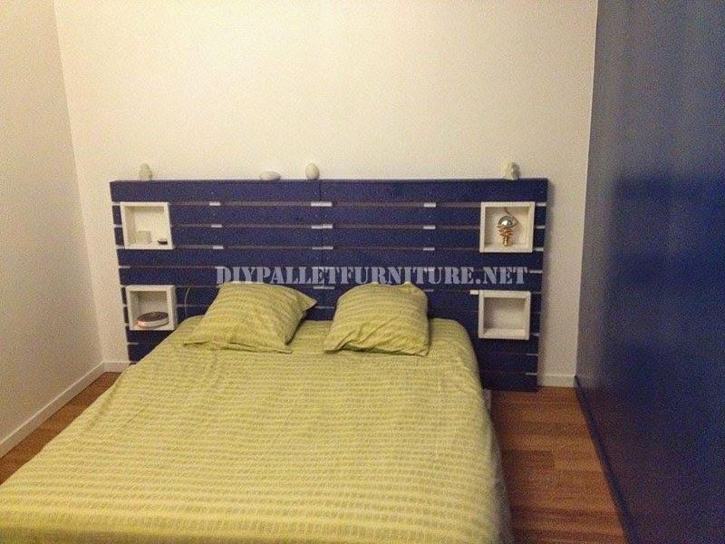 podis utilizar una estructura de cama tradicional o bien hacerla tambin con palets colocados sobre el suelo ser el cabecero lo que os requerir una