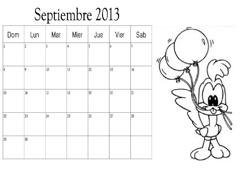 Dibujo del mes de Septiembre 2013 para colorear ~ Colorea el dibujos