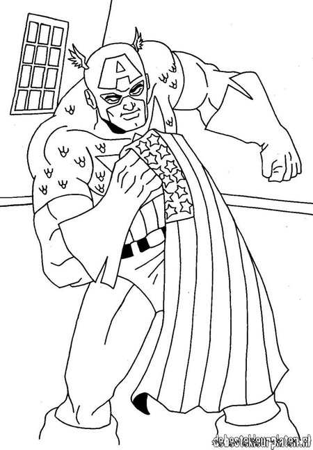 avengers coloring pages captain america - photo#10