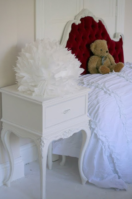 Lilyfield life Painted Furniture: A beautiful vintage upholstered bedroom set.