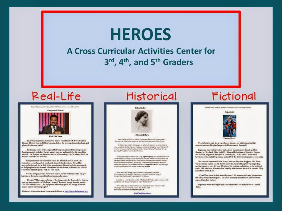 http://www.teacherspayteachers.com/Product/Heroes-Activities-Center-1154016