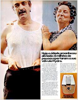 propaganda válvula Hydra - 1977; os anos 70; propaganda na década de 70; Brazil in the 70s, história anos 70; Oswaldo Hernandez;