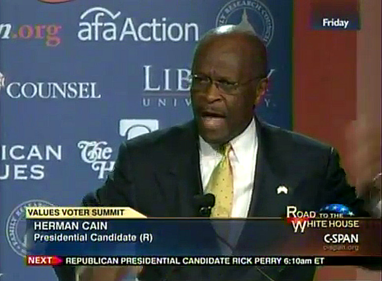 Herman Cain Values Voter Summit