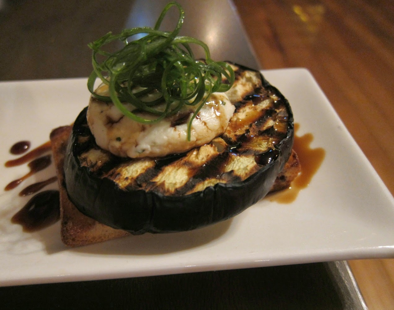 eggplant with goats cheese and honey cane arcadia ascot vale