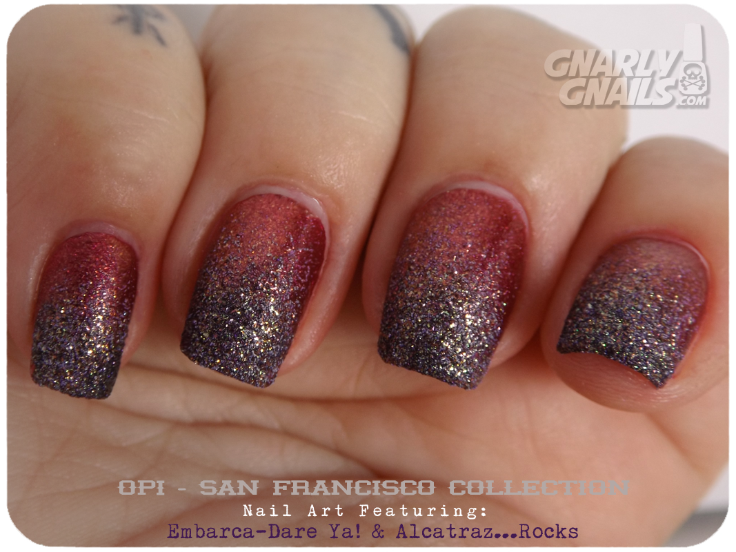 OPI San Francisco Nail Art Reds on the Rocks - Gnarly Gnails