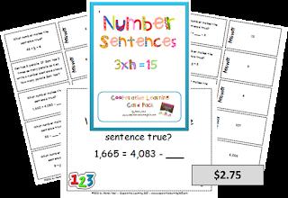 , Number Sentence Card Pack