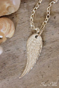 Handmade Fine Silver Angel Wing Pendants