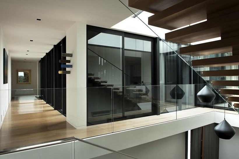 Hallways in Lucerne Residence in New Zealand