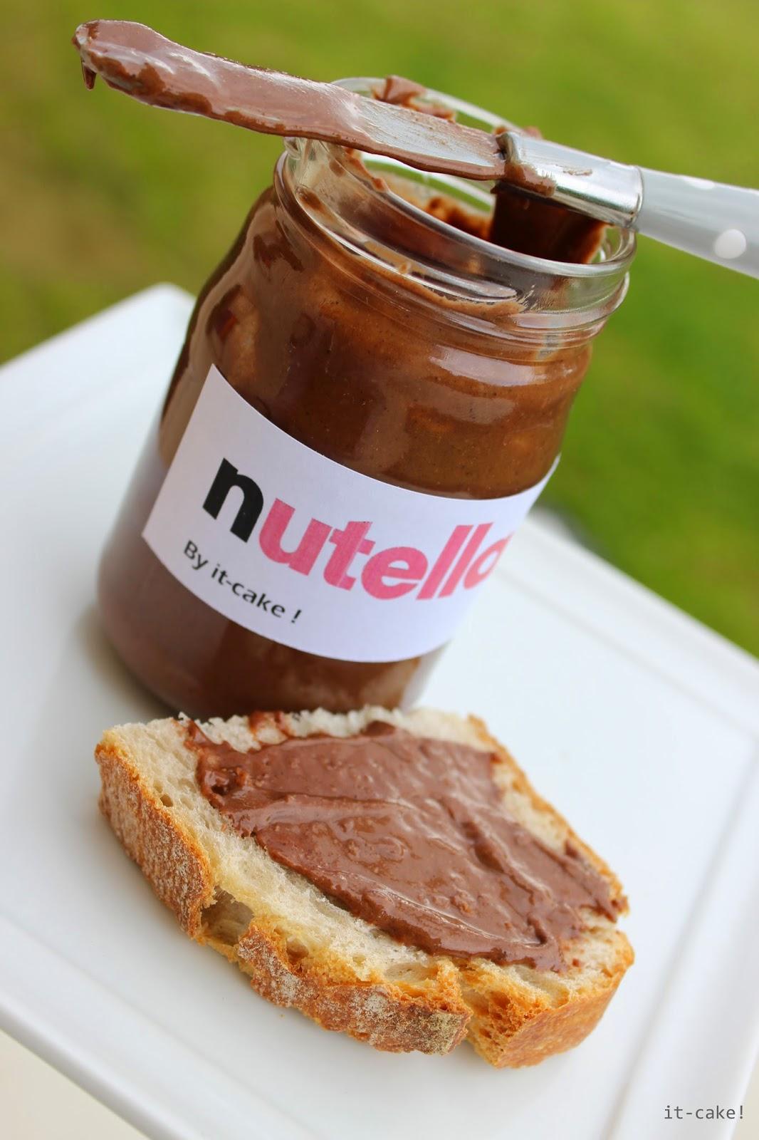 It cake p te tartiner nutella maison poisson d 39 avril - Nutella maison lait concentre ...