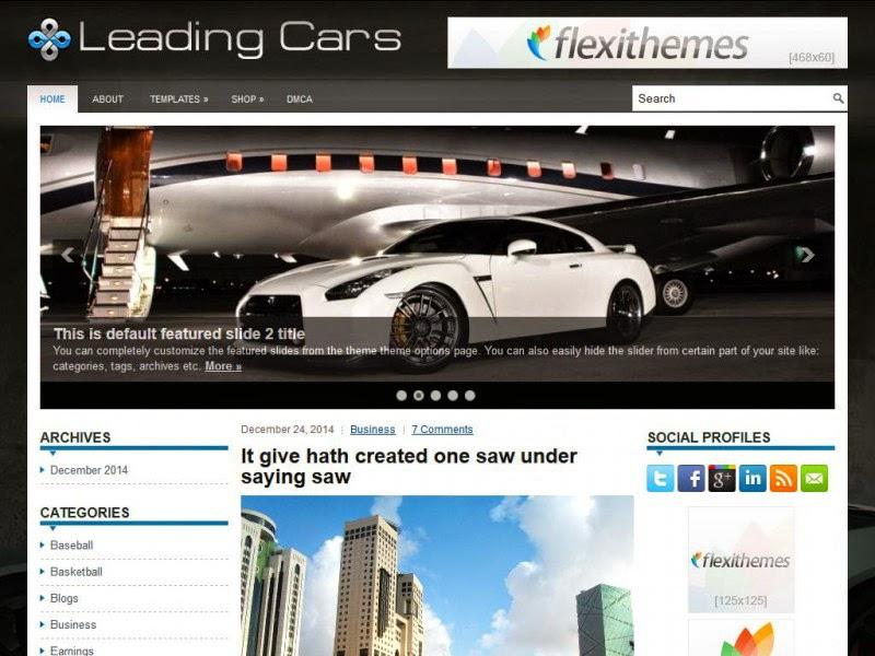LeadingCars - Free Wordpress Theme