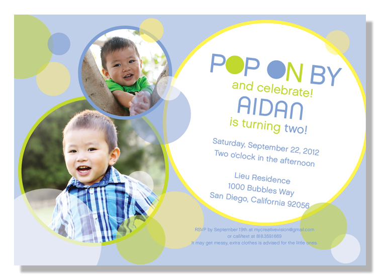Invitation parlour bubble birthday party aidan turns 2 you can order these invitations at invitationparlour for matching favor tags signs etc contact us at infoinvitationparlour filmwisefo
