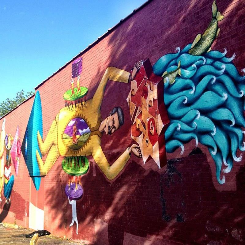Interesni kazki new mural in atlanta streetartnews for Atlanta mural artist