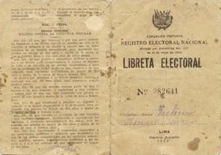 Libreta Electoral de 1931