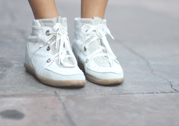 Wedge sneakers Isabel Marant Betty like (low cost version from Romwe)