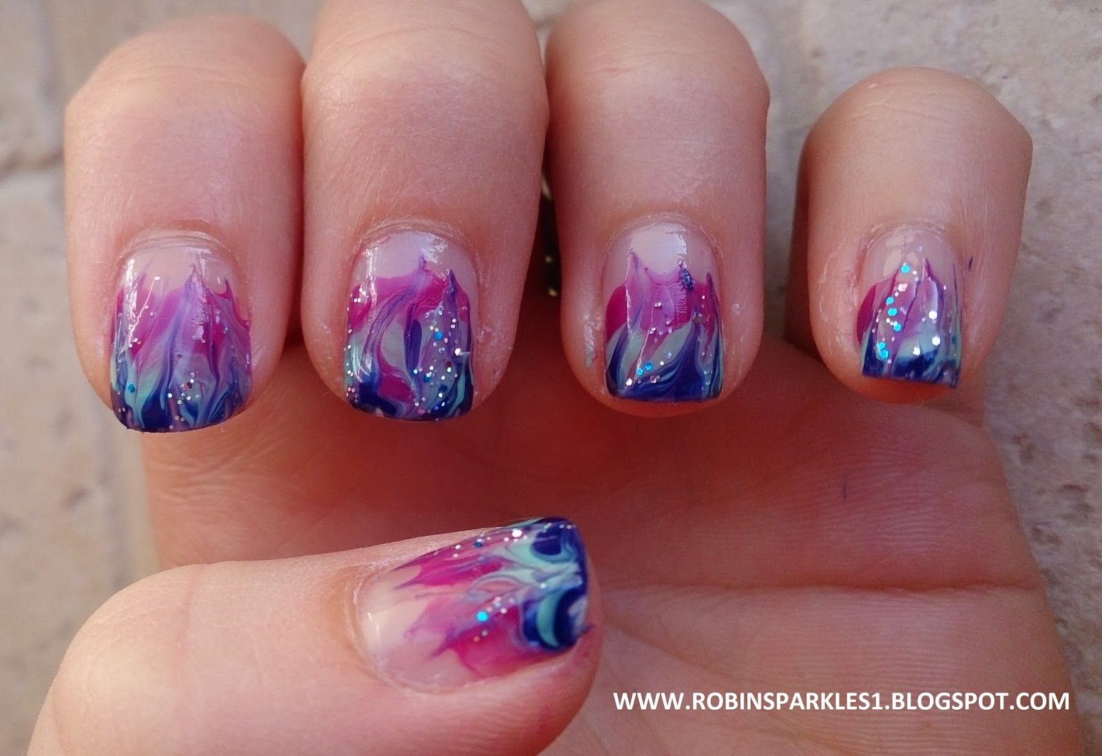 Robin Sparkles Blog: Flame Nails: Robin Moses YouTube inspired