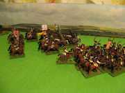 . the rest of his cavalry brigade foward and charges Heselrig's lobsters, .