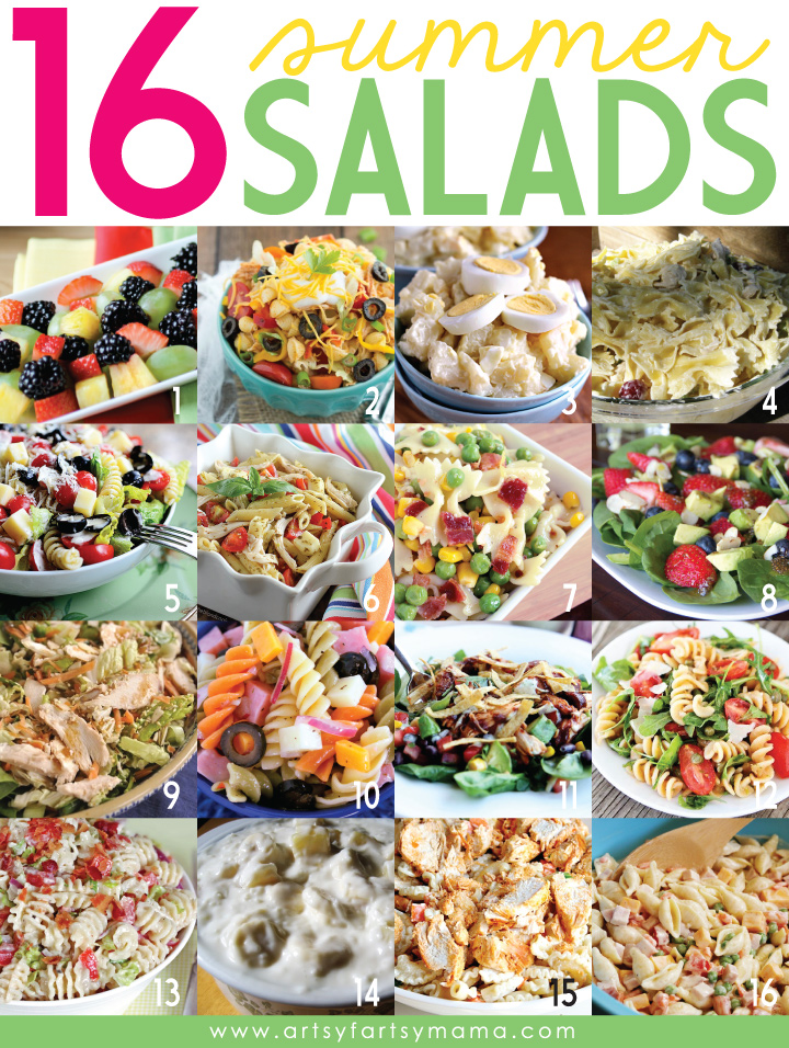 16 Summer Salads at artsyfartsymama.com