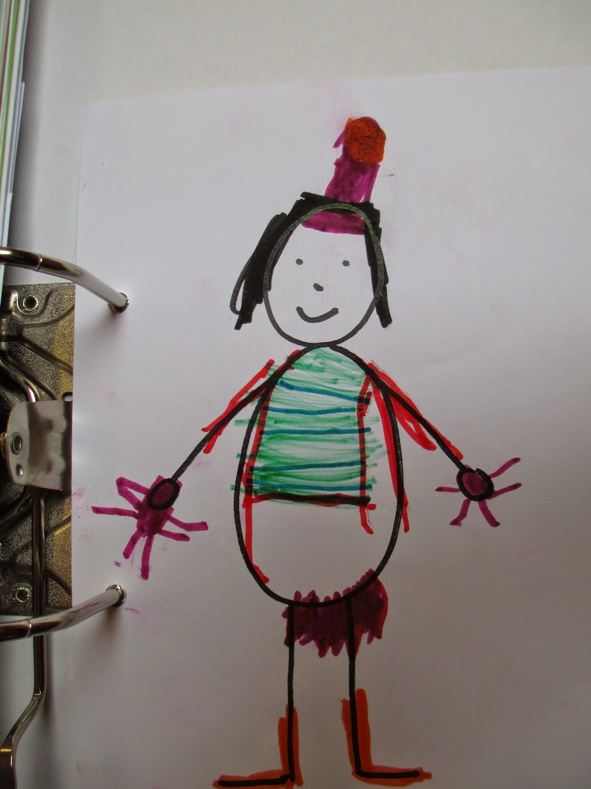 Zeichnen im Kindergarten mit einem Spiel