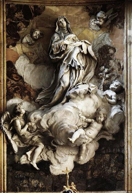 Tav. 1 Estasi di Santa Caterina da Siena, Roma, Santa Caterina a Magnanapoli, 1660-1665.