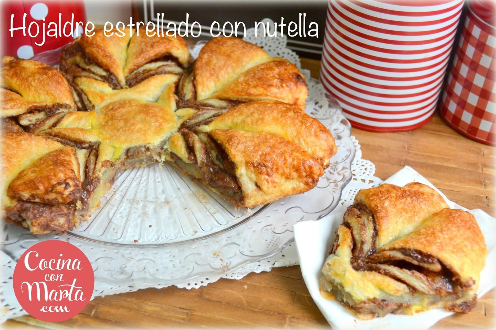 Cocinar Con Hojaldre Recetas Faciles | Hojaldre Estrellado Con Nutella Cocinaconmarta Com