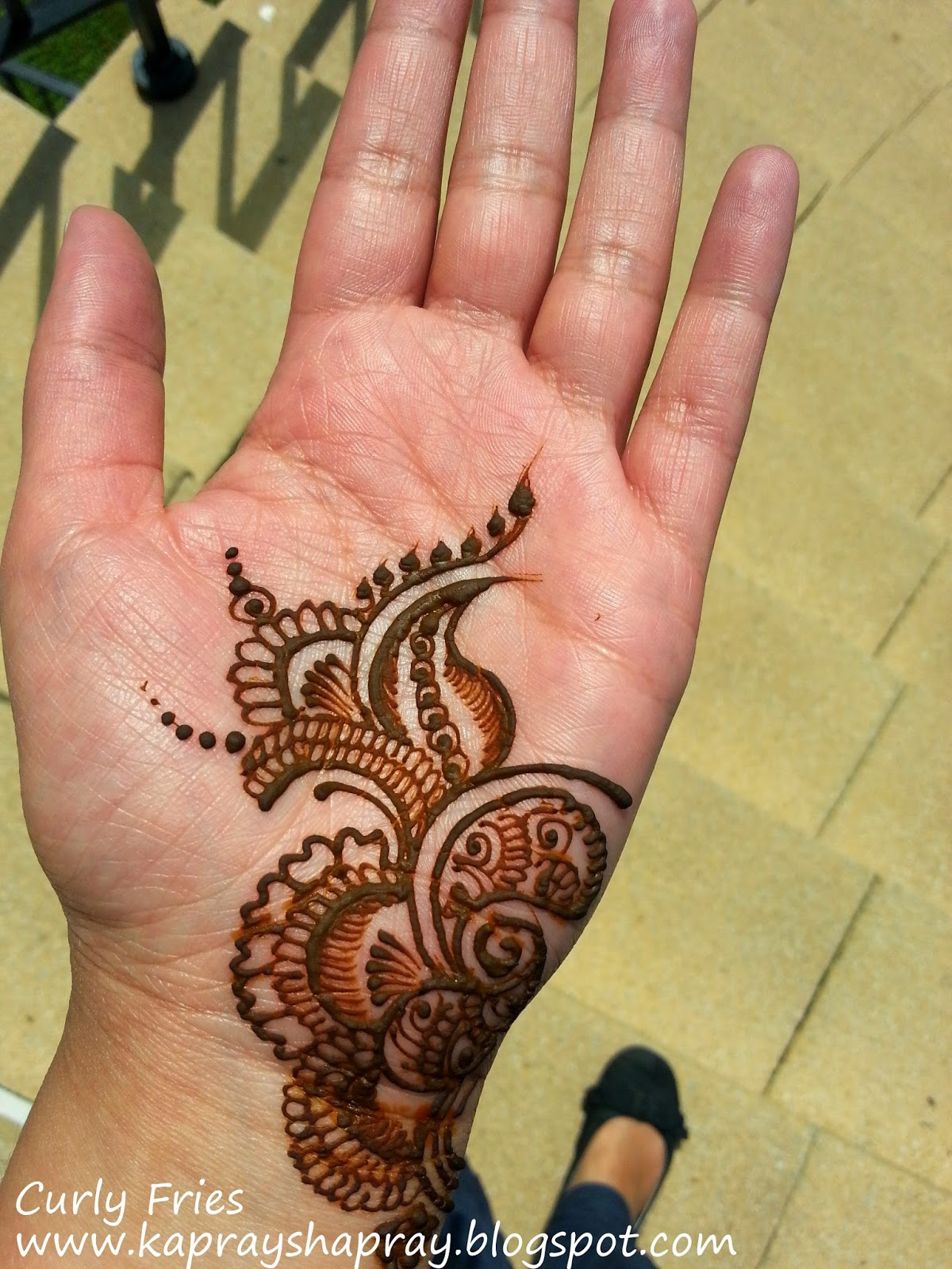 Curly Fries THE WEDDING POSTS My Mehndi Trial