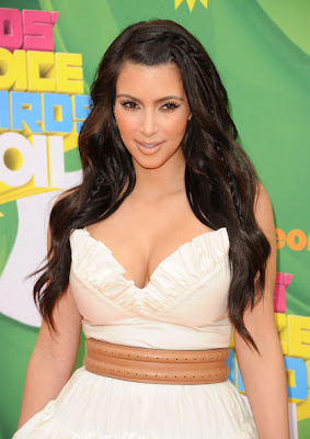 Kim Kardashian Long Curls Hairstyles