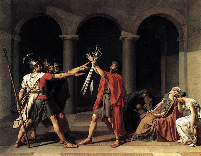 The Oath of the Horatii   Jacques-Louis David  1784  Louvre   ParisOath Of The Horatii