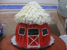 Pastel Granero Rojo
