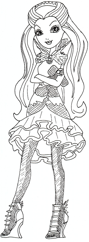 Raven Queen Ever After High Coloring Sheet title=